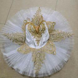 Новый пачка детская белая блесток пачки для профессионального балета юбка Лебединое озеро пачка костюмы для танцев и балета для девочек