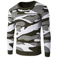 O Neck Pullover Men Sweaters Camouflage Pattern Design Knitwear Man Sweater Brand Casual Clothing Good Quality for Autumn Winter