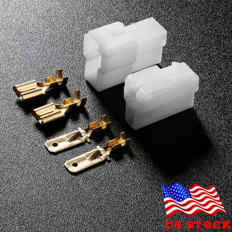 US T-Type 2 Pin Power Connector Plug For VHF/UHF Kenwood Yaesu Icom Radio Cable