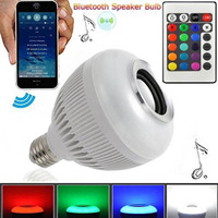 MUQGEW E27 7W RGB LED Light Milight WiFi Controller For IOS Android Warm White High End