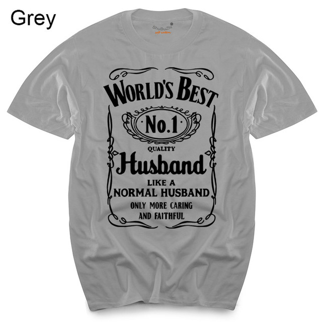 242b1070 World's Best Husband T-Shirt Funny Fathers Day Dad Present Valentines Mens  Gift men's top tees black tshirts