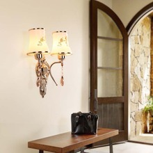 Glod Simple European Luxury Wall Light Lamp For Bedroom Living Room TV Background Home Decoration