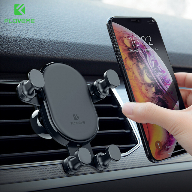FLOVEME Car Phone Holder Air Vent Mount Telephone Car Holder For iPhone X Xiaomi Gravity Phone Holder Support Smartphone Voiture