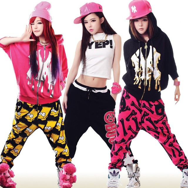 b62c37c965a9f Trajes de baile Hip hop calles Jazz etapa de ropa Hip hop pantalones  deportivos para bailarina