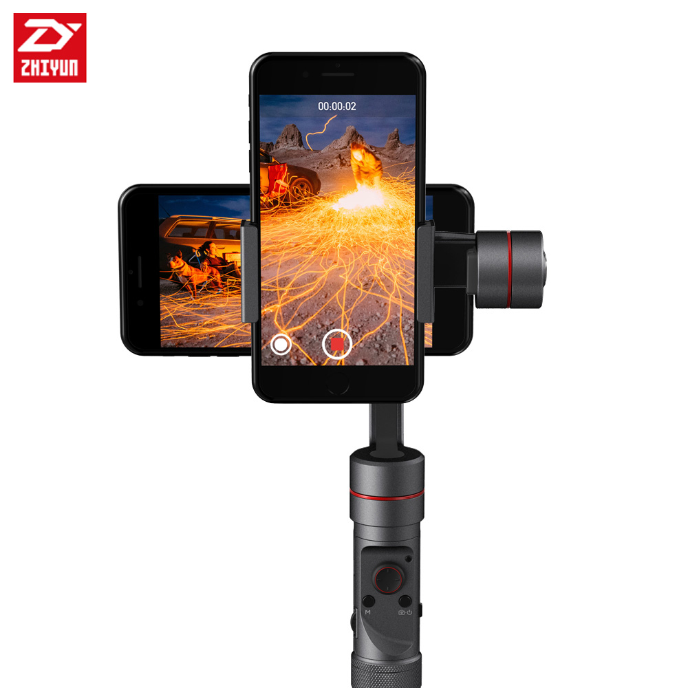 Zhiyun Smooth - III 3 Handheld Gimbal Stabilizer for Smartphone Mobile Phone Support 260g yuneec q500 typhoon quadcopter handheld cgo steadygrip gimbal