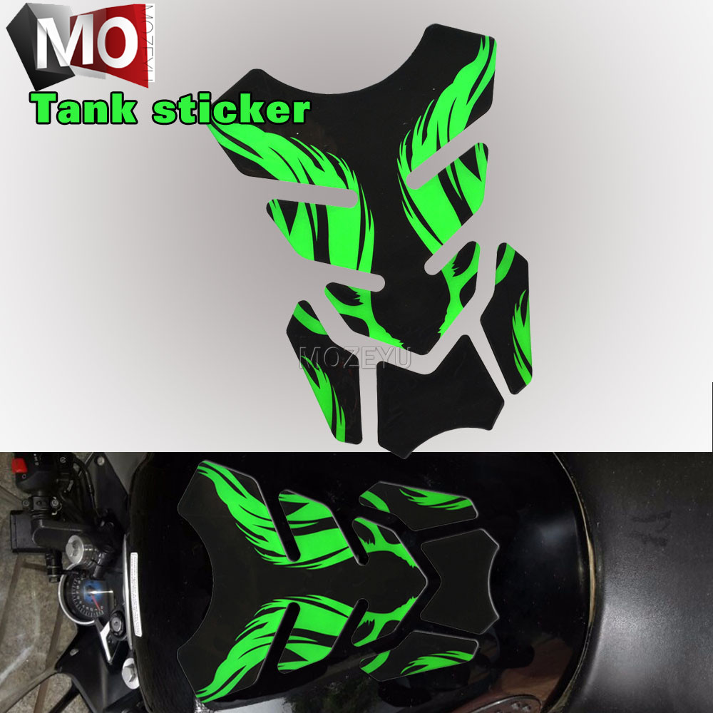 1set Motorcycle Fishbone Tankpad Protector Sticker 3D Rubber Sticker Gas Fuel Oil Tank Pad Protect For Suzuki