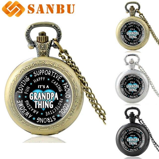 Classic Family Member Quartz Pocket Watch Vintage Bronze Pendant Necklace Best G