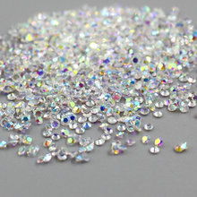 1440pcs/pack 1.3mm Multicolor Zircon Micro crystal rhinestones Mini Nail Art glitter beads for Jewelry DIY, nail art decoration