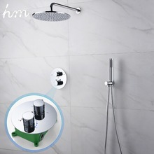 hm Thermostatic Dual Shower System 10 inch or 8 brass set