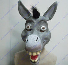 Halloween Party Cosplay Animal Mask Latex Donkey Mask Bunny Mask Disguises of Donkey Face Head Mask kimberly clark childs face mask w stretchable earloops 75 box latex free