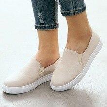 купить!  Женская обувь Slip On Sneakers Новая мода Женская обувь Дышащая Удобная легкая повседневная обувь
