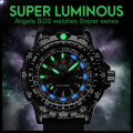 BOS Super Luminous Military Watch Men Rotary Dial Compass Army Alloy Silicone Waterproof Time Zone Male Watches Men Luxury Brand