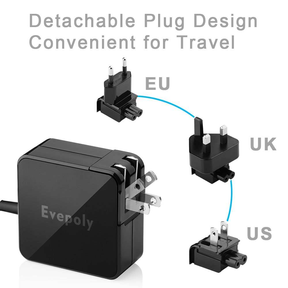 Evepoly PD USB-C/USB Type-C 5V3A/9V 3A/14.5V 2A/15V 3A/20V 2.25A Wall Charger for LG G5/Nexus 5X/Asus ZE552KL Z500M/Nokia N1