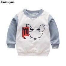 Cartoon Children Kids Pullover Boy Girl Cotton monster Print Sweatershirts Leisu