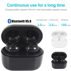Headphone Wireless Earphone Bluetooth V5.0 Headset Stereo Music Mini Twins HIFI 2.4GHz