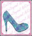 Aidocrystal hot sale crystal women dress shoe blue high heels,rhinestone ldies blue pumps