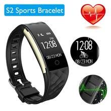 Смарт часы Спорт Здоровье S2 сердечного ритма шагомер Фитнес трекер Wateproof BT4.0 Смарт Браслет для IOS 7.0 Android4.3