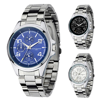 New And Fashion Men's watches Classical Alloy Case Stainless Steel Band Analog Quartz Wrist Watch 5LH1 6T3B C2K5W