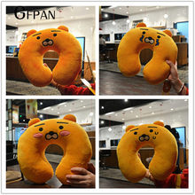 1pc Kakao Kartoon Animals U-shaped Pillow Soft Plush Toy Korean Cartoon Neck Pillow Flying Office Birthday Gifts For Girlfriend(China)