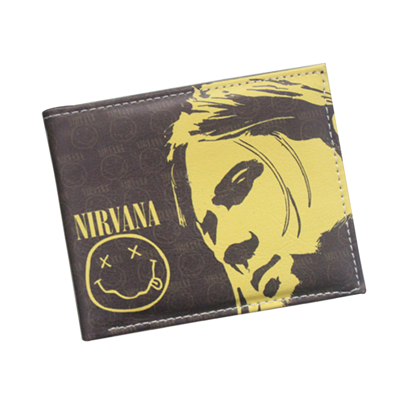 Popular Music Band Designer Wallet Grunge Rock Band Nirvana Wallet For Men Women Fans Comic Smile Purse Short Wallet Card Holder наушники akg n20 silver