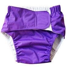 Моющиеся одноразовые подгузники для взрослых, штаны для недержания, обычные размеры, талия 1,8-2,7 футов, регулируемые водонепроницаемые подгузники из ТПУ