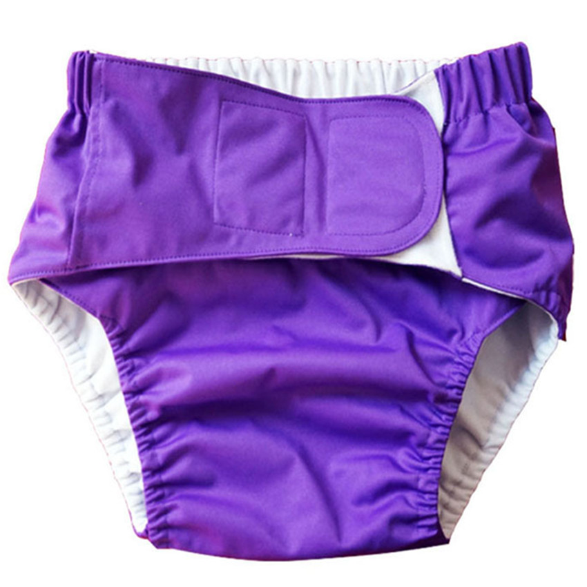 Washable Adult  Diapers Disposable Incontinence Pants  Small Size Waist 1.5-2.2 Feet Adjustable TPU Waterproof  Diapers