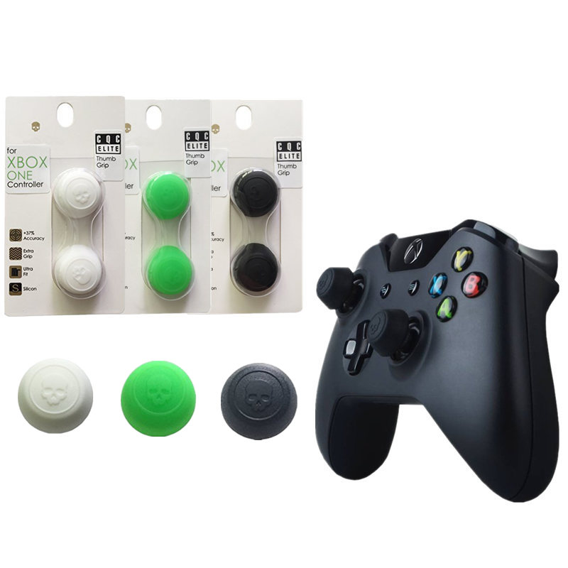Skull & Co. Thumb Grip Joystick Cap CQC Elite Thumb grips Cover Silicone Protective cap for Xbox One Controller game accessories image