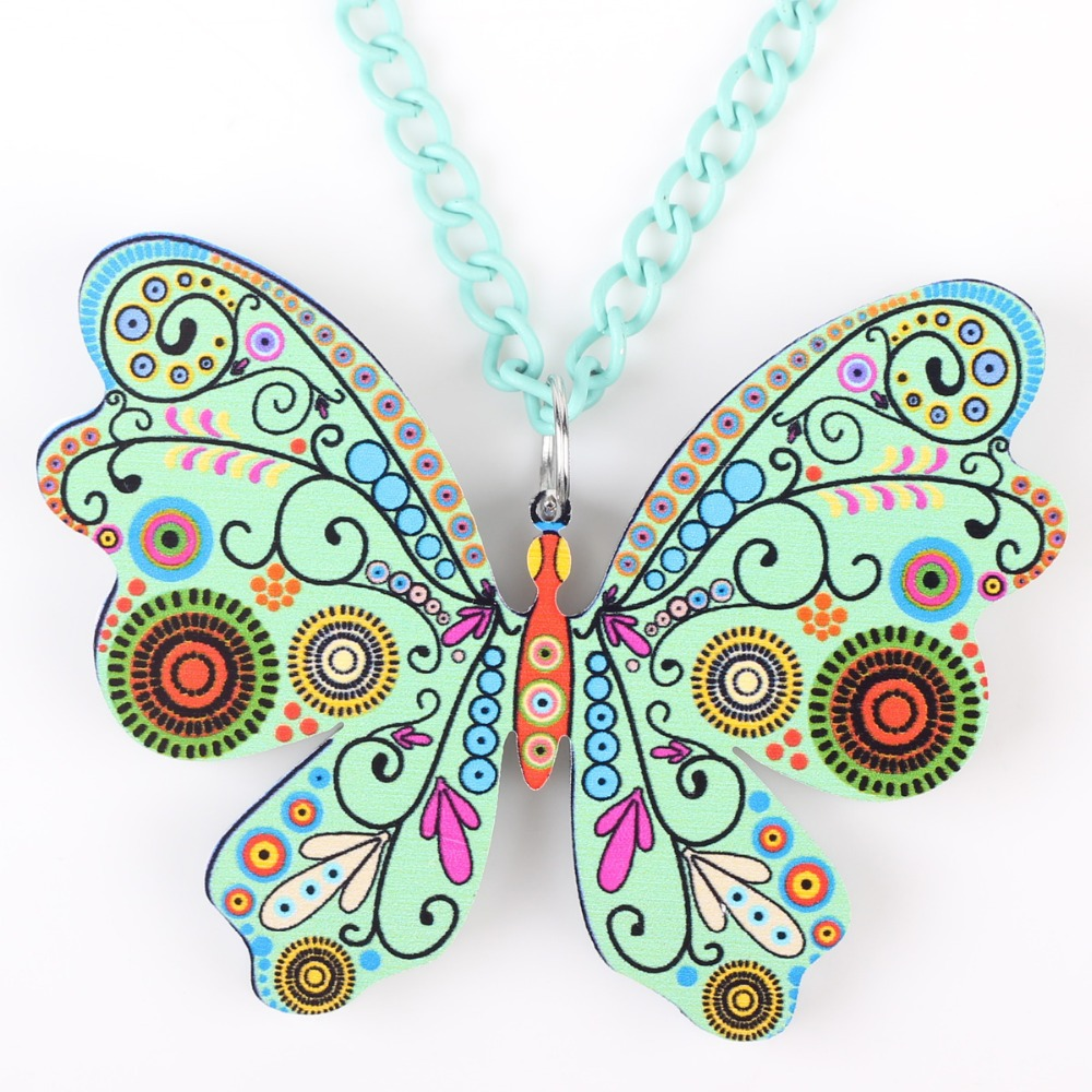 Bonsny Butterfly Վզնոց կախազարդ երկար - Նորաձև զարդեր - Լուսանկար 3