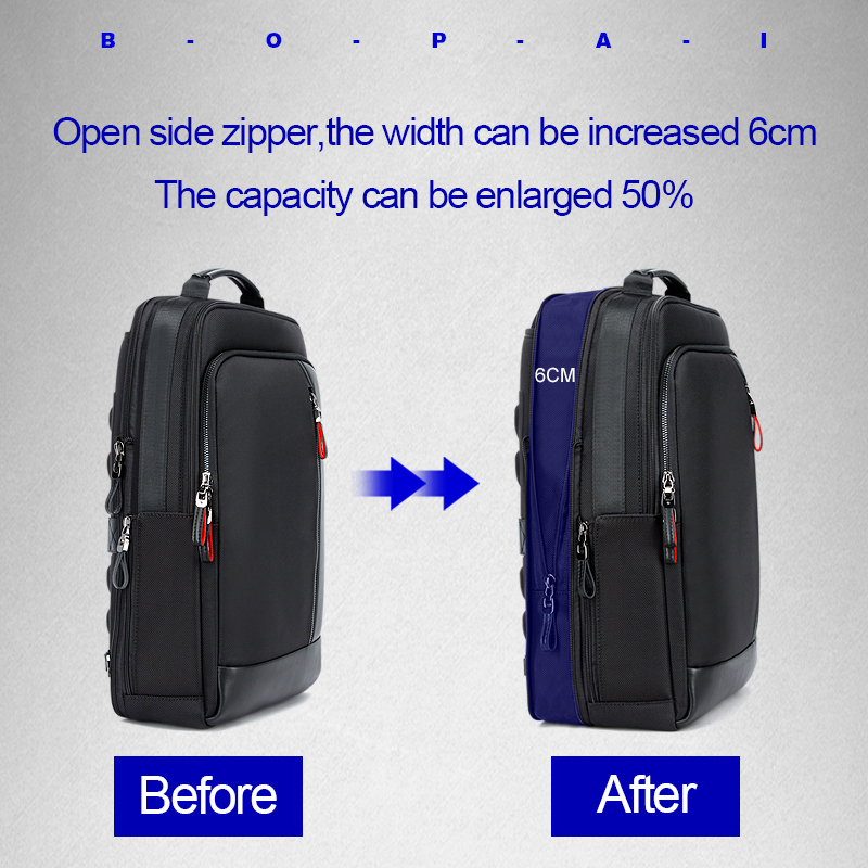 Für 15 Bopai Männer Vergrößern Theft Reise Anti Drop Verschiffen Rucksack 6 Lade Zoll Multifunktions Usb Black Laptop Teenager qgBwfOB