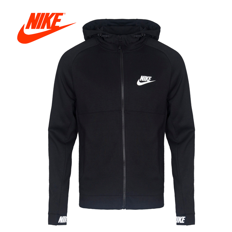 Original New Arrival Official NIKE NSW AV15 HOODIE FZ FLC Men's Jacket Hooded Sportswear