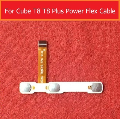100% original switch on off Power Volume button Flex cable For CUBE T8 T8 PLUS U78A conductive flex + Sticker glue replacement button switch a165l agm 12 1 original