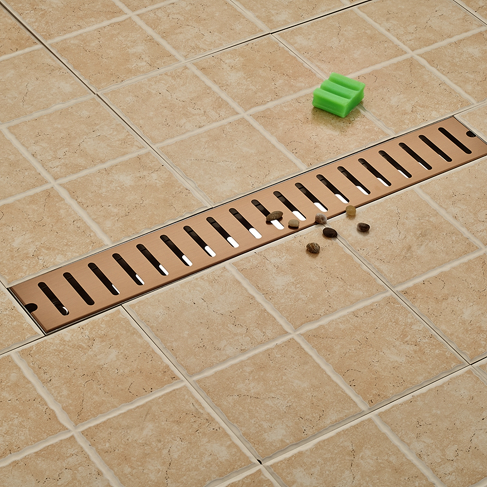 ФОТО Floor Filler Grate Waste Floor Drain Square Bathroom Shower Rose Golden