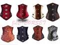 2016 NEW fashion Gothic Boned Lace Up Steampunk Underbust Corset Bustier Waist Cincher