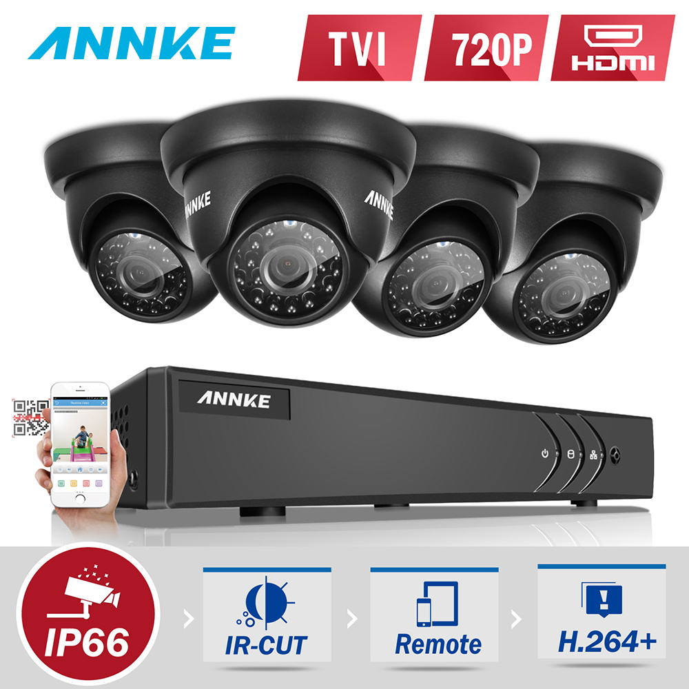 ANNKE HD 8CH 720P CCTV system 1.0MP Real time TVI Surveillance DVR KIT 4PCS 1500TVL outdoor Security Camera System 1TB HDD v tree spring autumn teenage girls clothing set zipper sports clothes for girls children tracksuit kids sport suit 4 12t
