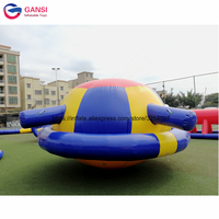 Exciting inflatable spinner toys water rocker 4x4x1.8m inflatable saturn water toy for aqua park