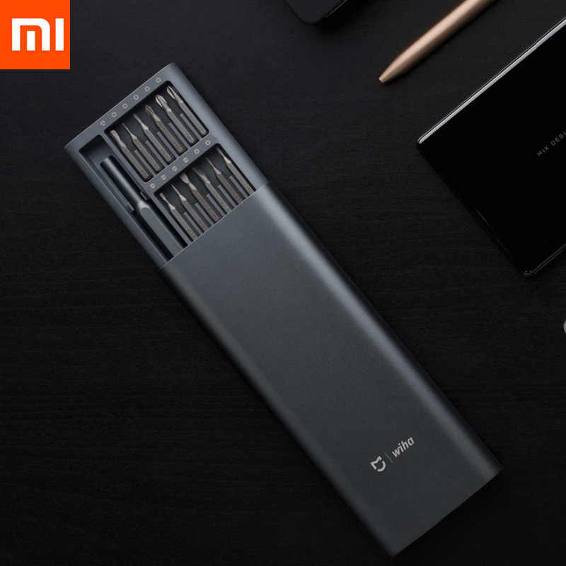 Original Xiaomi Mijia Wiha 24 in 1 Precision Screw Driver Kit 60HRC Magnetic Bits Xiaomi Home Kit Repair Tools Xiomi Mijia
