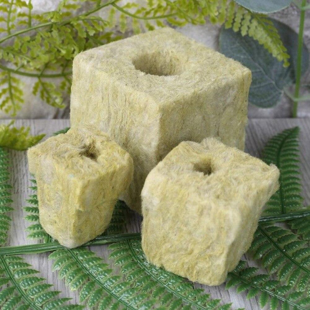 Hydroponic Grow Blocks Rockwool Cubes Soilless Cultivation Ventilative Media Compress Base Greenhouse Mini Garden Practical