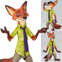 Yamaguchi Kids Toys Zootopia Animals Figures Toys Nick Fox PVC Action Figure Cartoon Anime Figure Collection Model Toy