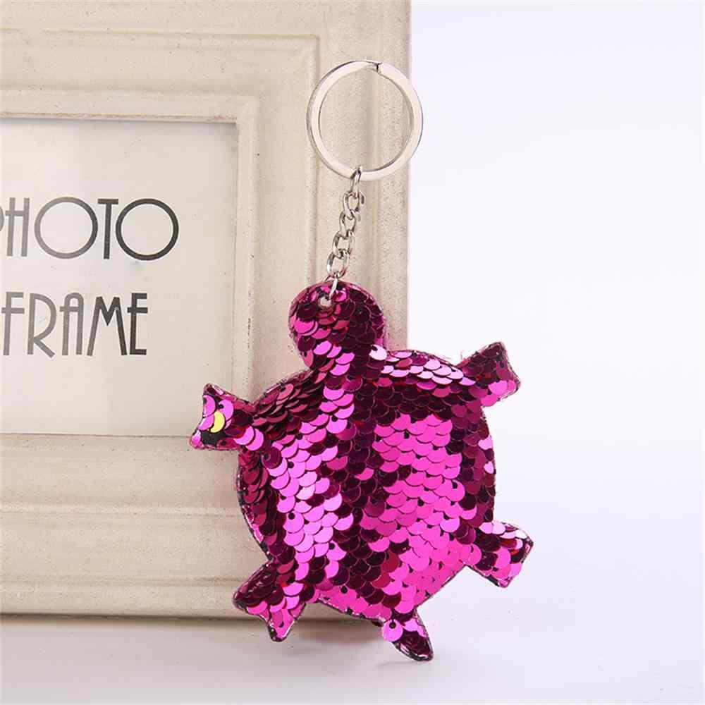 Okdeals модные Блестящие Блестки брелок с котом Блестящий Единорог Рог брелок Русалка животных брелоки с черепахой для женщин сумка Подвеска