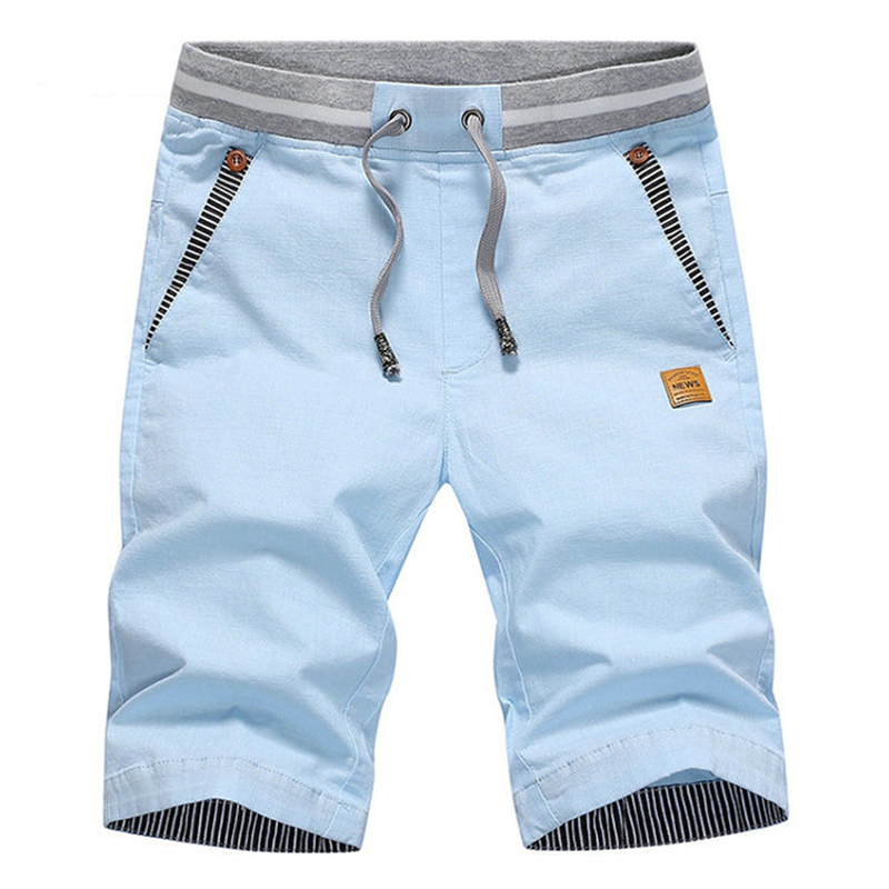 Casual Shorts Streetwear Elastic-Waist Summer Plus-Size 4XL Solid Stylish Silm Men M-4XL