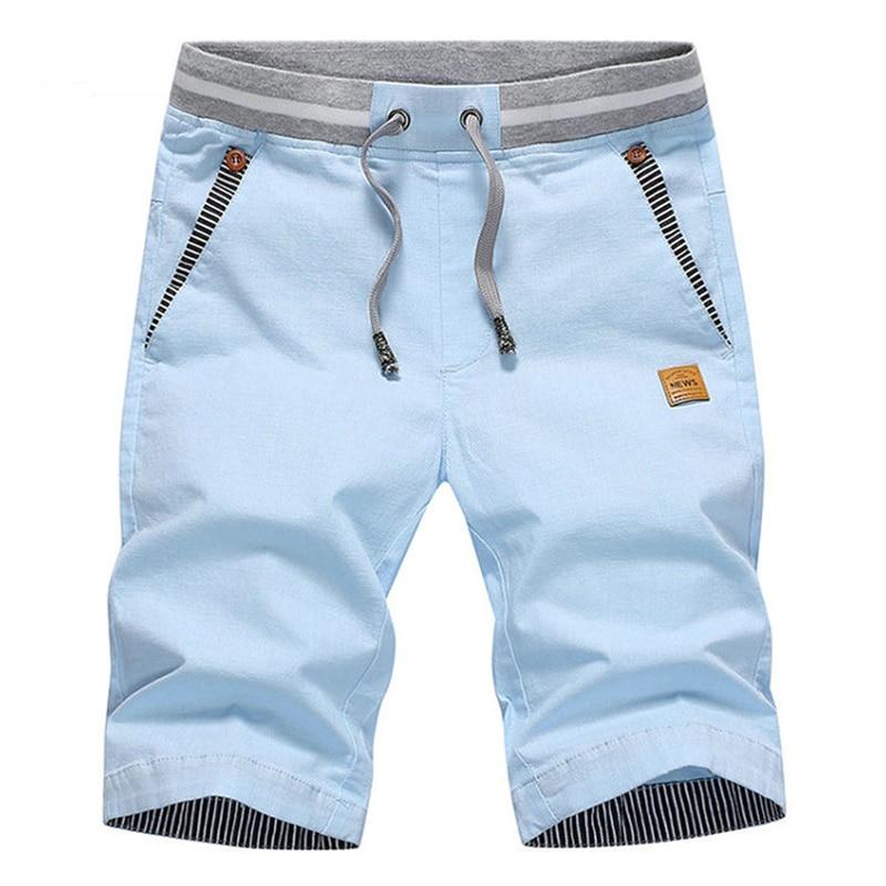 2019 Summer Solid Casual Shorts Men Cargo Shorts Plus Size 4XL Beach Shorts M-4XL Stylish Streetwear Elastic Waist Silm