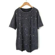 PRBYLDX модная футболка Женская Повседневная панк Рок Pok негабаритная футболка Vetement Femme женские футболки женская одежда топы