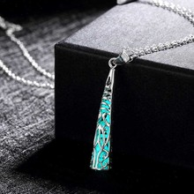Hot Women Pretty Glow In Dark Hollow Out Long Chain  Necklace Pendant Jewelry