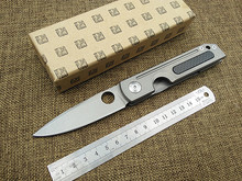 New outdoor camping tactical pocket folding knife D2 handle titanium +carton fibre handle survival rescue gift knives EDC tools