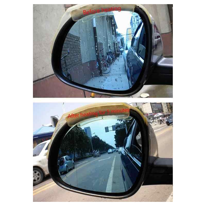 2 pcs DC12V/24 v Car Rear-view Placas de Espelho De Vidro Aquecida Almofada de Aquecimento de Degelo Rain-proof filme de Aquecimento Retroreflector