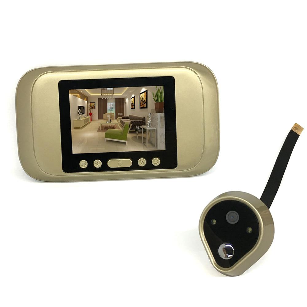 Visual Doorbell 3.2 LCD Visual Monitor Door Peephole Peep Hole Wireless Viewer 720P HD Camera Video smart wifi video doorbell hd sony 700tvl 960h cat eye door hole