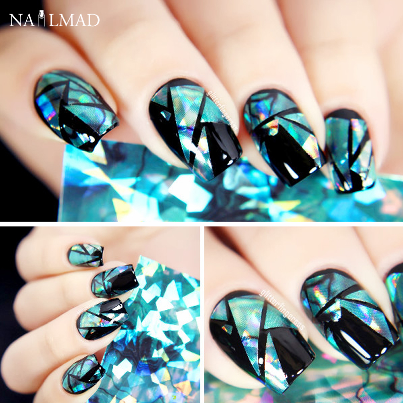 Aliexpress.com : Buy 1pc Shimmer Nail Art Shell Paper