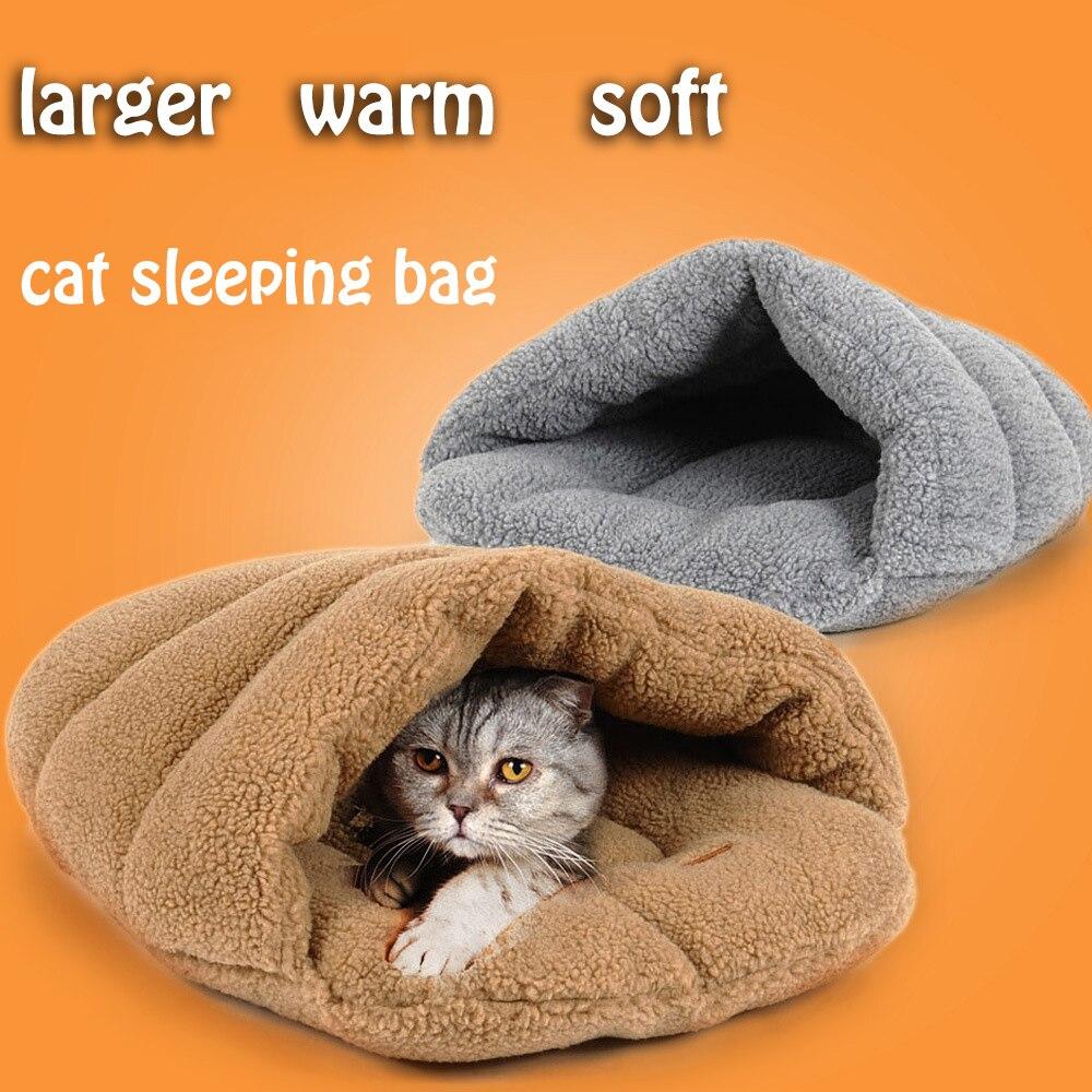 Warm Winter Pet cat sleeping bag lamb wool Warm Soft Cat Slipper Shaped bed Lovely cat Litter Nest Pet pet Products Size S/M