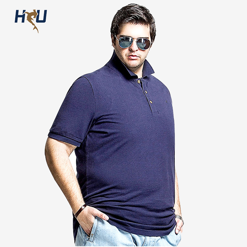 Italian Design Big Size Men Polo Shirt Short Sleeve Cotton