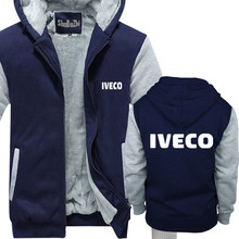 shubuzhi winter warm hoodies thick fleece coat Iveco Trucks man Casual Tracksuit